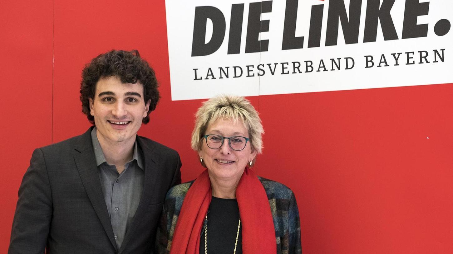 Ates Gürpinar und Eva Bulling-Schröter sind das neue Spitzenduo der Linken in Bayern und kämpfen um den Einzug in den Landtag.