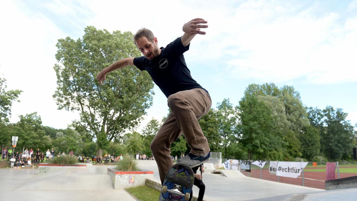 Raum für Jugendliche gibt es schon in Fürth, wie hier den Skatepark am Schießanger. Wovon Fürths Nachwuchs sonst noch träumt, zeigt sich möglicherweise Anfang März.