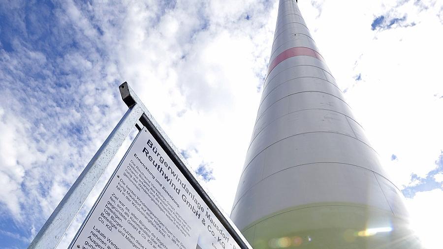 Eine Tafel informiert über die wichtigsten technischen Daten der Anlage.
