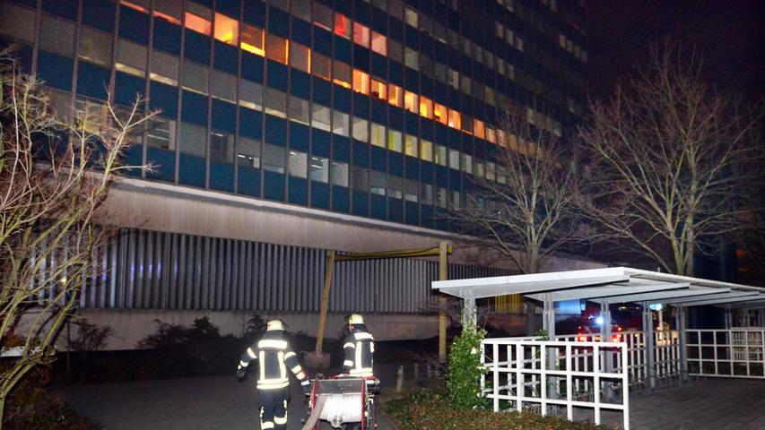 2018: Vermeintlicher Brand im Siemens-Hochhaus in Erlangen
