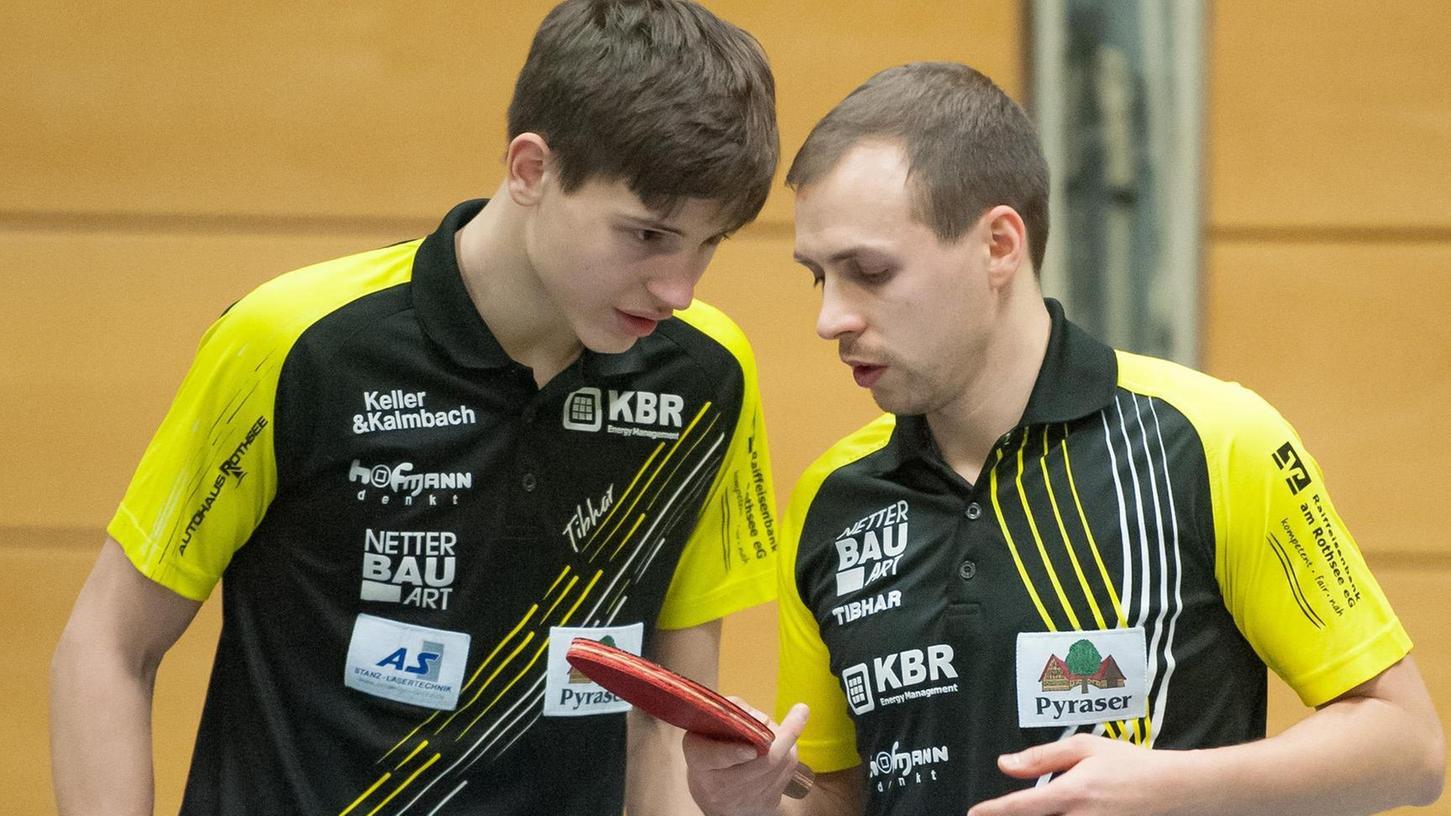 Hannes Hörmann (li.) und Jaka Golavsek gefielen wie Sebastian Hegenberger schon im Hinspiel gegen Passau. Damals verlor der TV allerdings, am Samstag soll ein Sieg Auftrieb geben für das Duell gegen Windsbach.