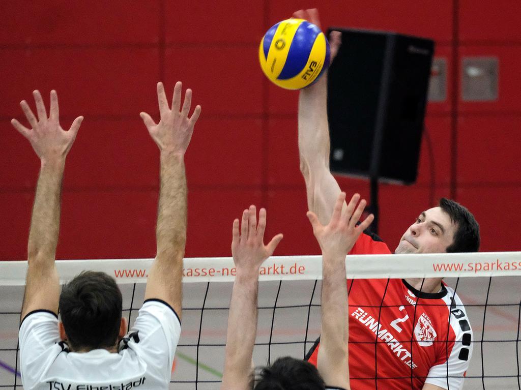 NM..Foto: Günter Distler..Motiv: Volleyball: ASV Neumarkt - TSV Eibelstadt, WGG-Halle....................................................................................................................................................................................