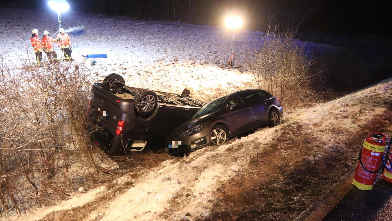 Wegen Glätte hat sich nahe Thuisbrunn ein Unfall ereignet.