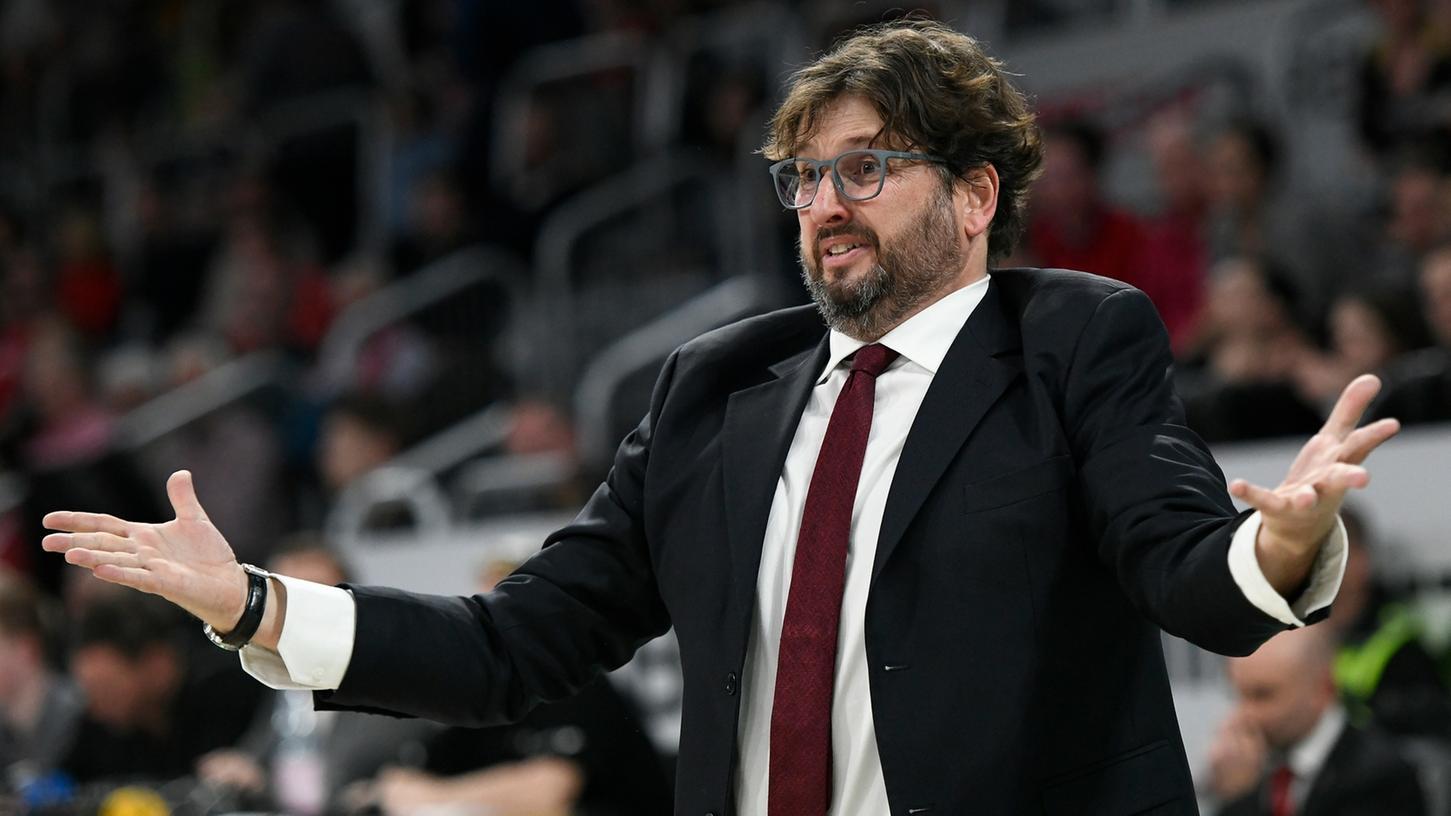 Steht in Bamberg offenbar vor dem Aus: Coach Andrea Trinchieri.