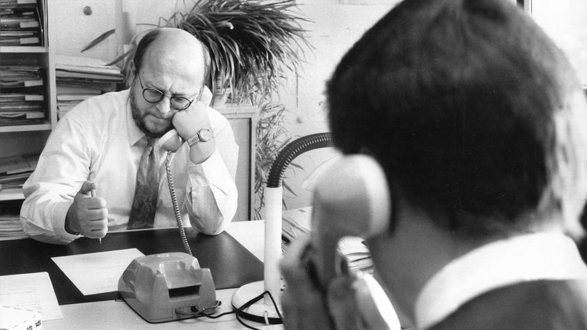 Das Redaktionsteam wächst: Im Jahr 1981 liegt die Zahl der Mitarbeiter im Verlag Nürnberger Presse und im Druckhaus bei 1.715.
