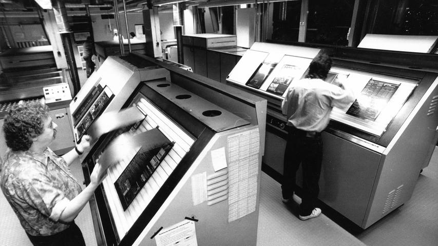 Die Produktion der Zeitungsseiten wird ebenfalls immer elektronischer.
