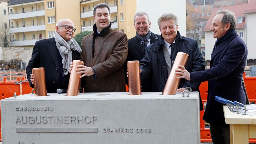 Augustinerhof wird Museum: Polit-Prominenz bei der Grundsteinlegung
