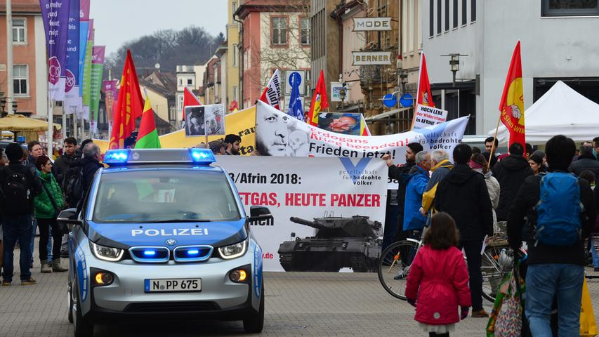 Erlanger Kurden demonstrieren gegen türkische Offensive