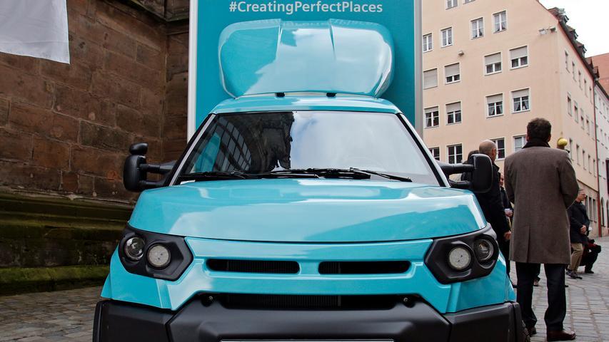 RESSORT: Lokales..DATUM: 29.03.18..FOTO: Michael Matejka ..MOTIV: Vorstellung von Siemens Pilotprojekt für saubere Transporte in Nürnberg mit E-Truck..ANZAHL: 1 von 17..