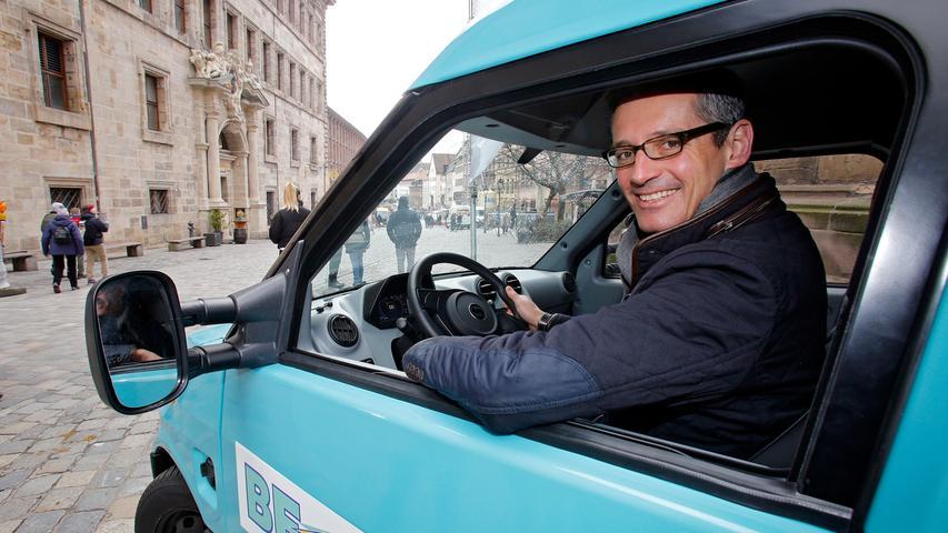 RESSORT: Lokales..DATUM: 29.03.18..FOTO: Michael Matejka ..MOTIV: Vorstellung von Siemens Pilotprojekt für saubere Transporte in Nürnberg mit E-Truck / Michael Fraas..ANZAHL: 1 von 17..