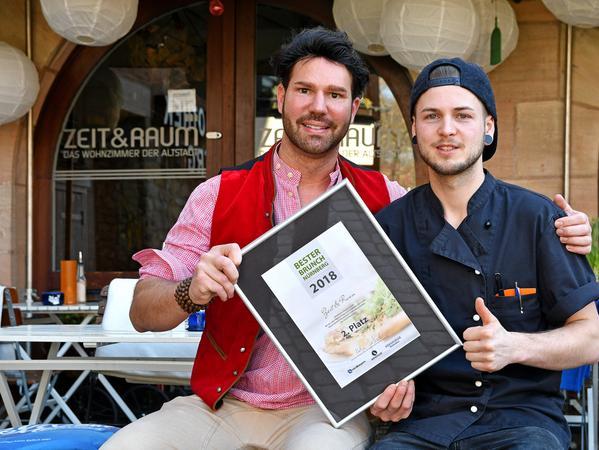 Platz 2 geht an Betreiber Christian Wagner und Koch Marwin Urban vom Zeit & Raum.