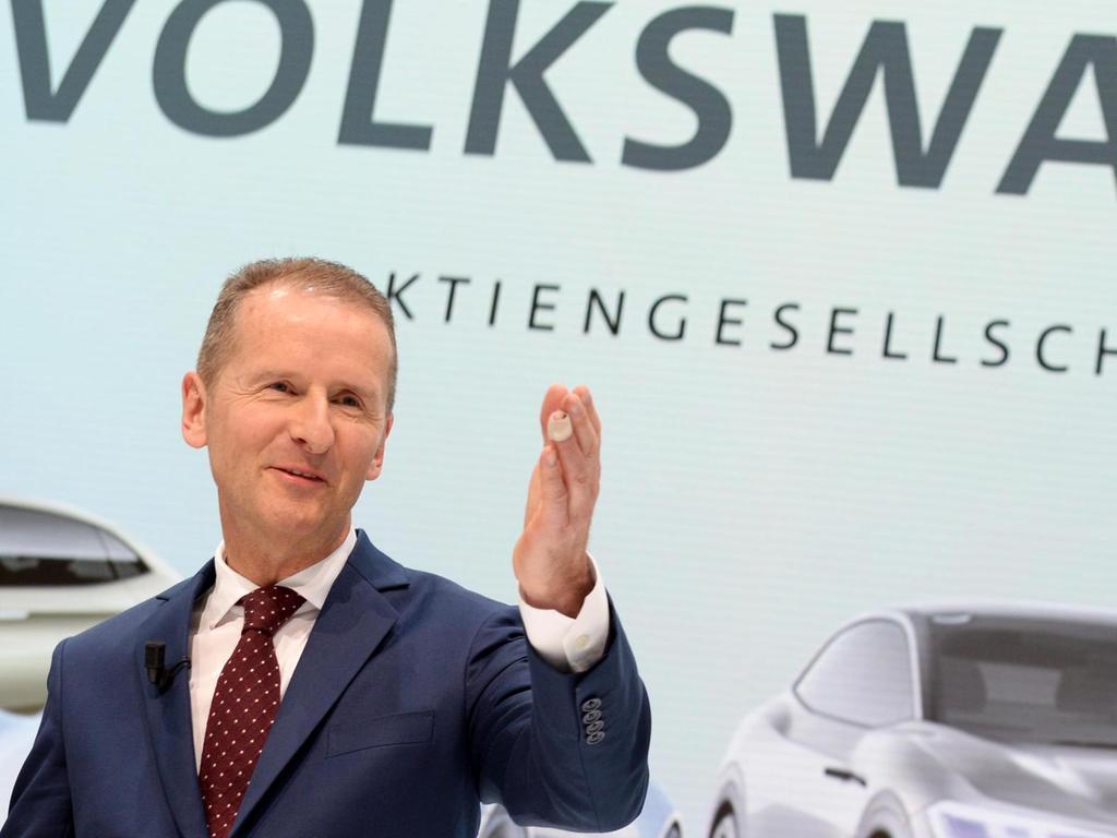 Am Ziel: Herbert Diess heißt der neue starke Mann im VW-Konzern.