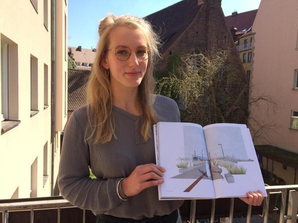 Studentin Charlotte Soppa hat ihre Bachelor-Arbeit dem verfallenen Bahnhof gewidmet.