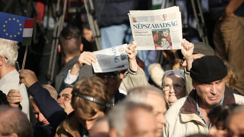 In Ungarn wurde die Oppositionszeitung