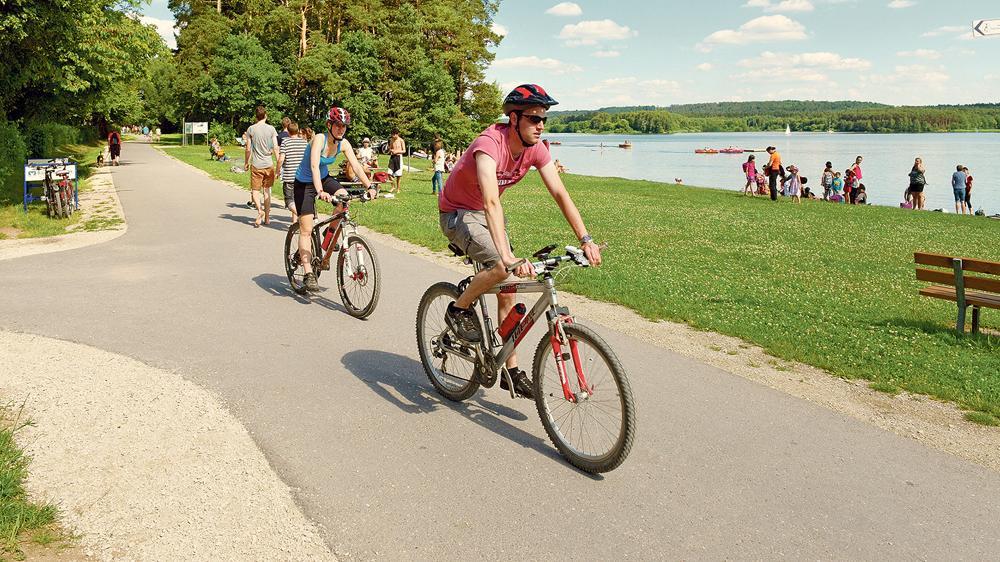 """Werbung für die Tourismusregion Fränkisches Seenland: Der 420 Kilometer lange """"WasserRadWeg"""