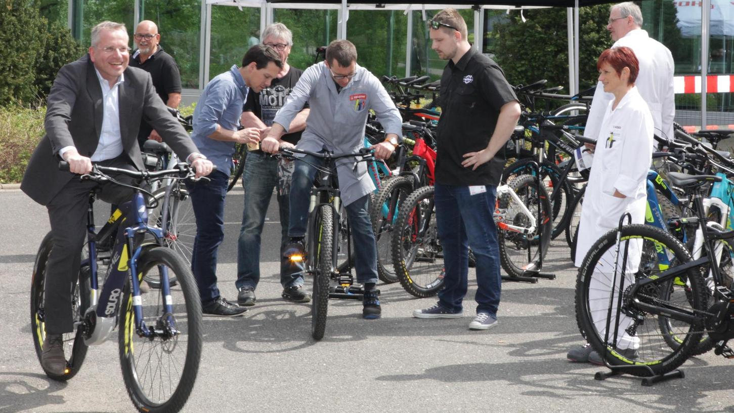 Ist gesund und schont sowohl die Umwelt als auch den Geldbeutel: Schwan-Stabilo bietet den Mitarbeitern das günstige Leasen von Fahrrädern auch mit Elektromotor an.