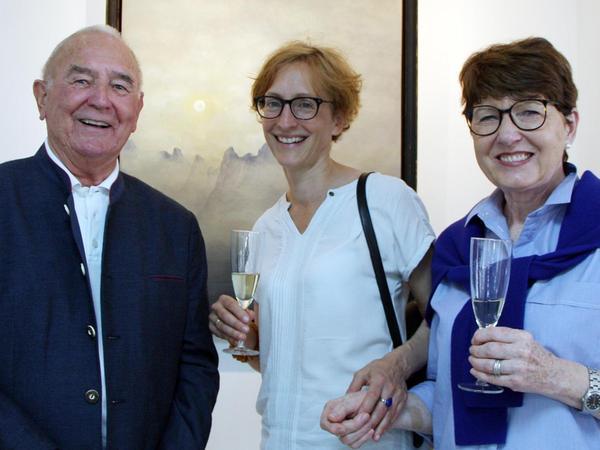 Extra für die Ausstellung mit Werken von Hans Pattis waren diese drei Kunstfreunde aus Heidenheim an der Brenz nach Gunzenhausen gereist.