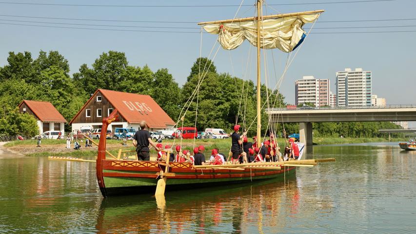 Römerboot auf Tour: Jungfernfahrt auf dem Main-Donau-Kanal