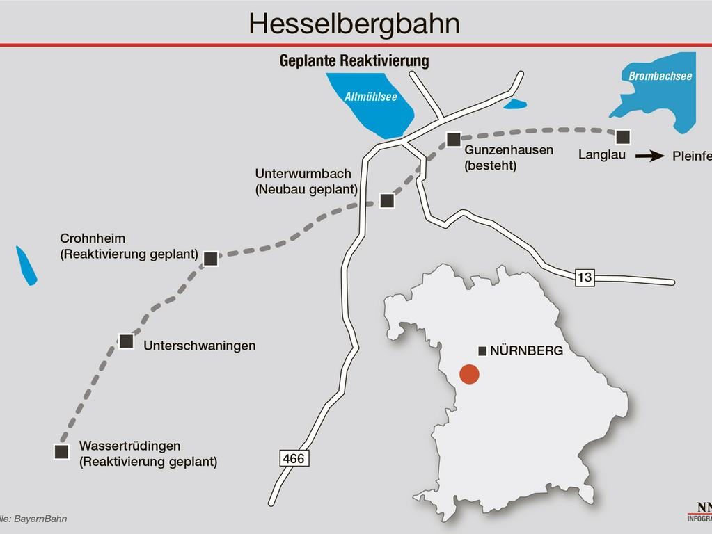 Ein neuer Bahnhof für die reaktivierte Hesselbergbahn: Künftig sollen Fahrgäste auch in Unterwurmbach zu- und aussteigen können.
