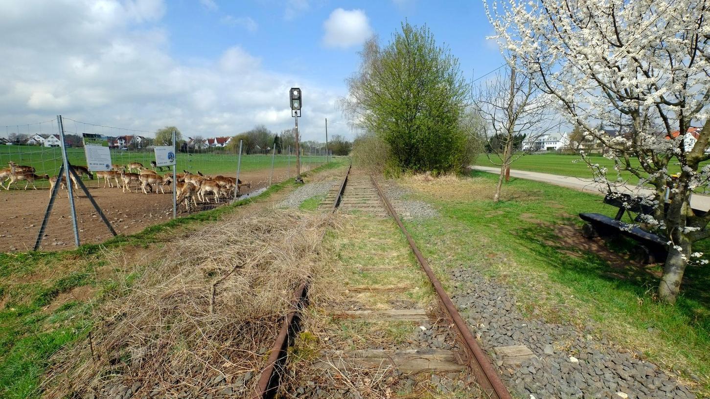 Die alte Trasse der Aurachtalbahn bei Hauptendorf.