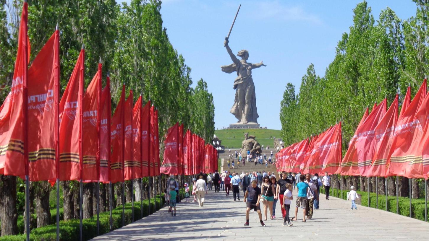 Der Mamajew-Hügel war im Zweiten Weltkrieg hart umkämpft. Heute ist er eine russische Gedenkstätte.