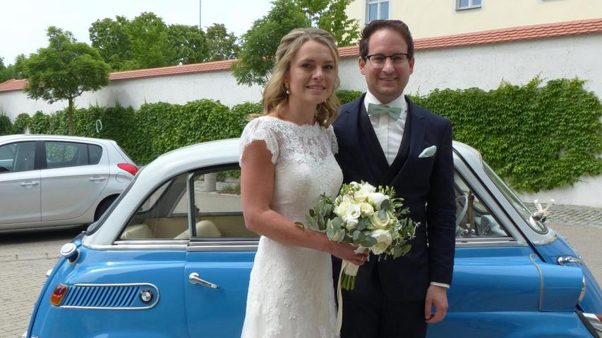 Vor fünf Jahren lernten sich Claudia Schuler aus Fuchsstein/Amberg und Stefan Grad aus Berngau kennen. Nun haben sie in der Wallfahrtskirche