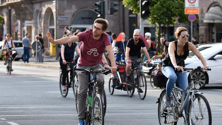 DATUM: 25.05.2018..RESSORT: Lokales ..FOTO: Horst Linke ..MOTIV: Critical Mass - Radfahren in Nürnberg..