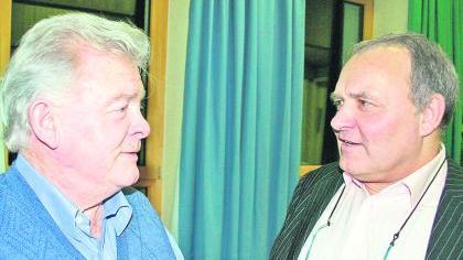 Die Pegnitzer Box-Legende Günter Färber (links), früher Lokalmatador im Kirchweihzelt am Knopferweiher, bestätigte Walter Wagner: «Früher hat ein Attest von Dr. Brommer gereicht.»