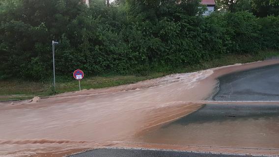 Starkregen wütet in Mittelfranken, Oberfranken und der Oberpfalz