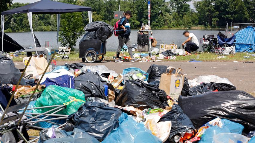Zelte, Bierdosen und Plastik: Nur der Müll bleibt von Rock im Park