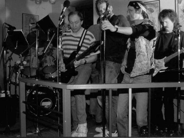"""In den 1980er Jahren hieß Just4Fun noch """"Uwe And His Friends"""" und spielte etwa im Café Express in der Nürnberger Südstadt."""