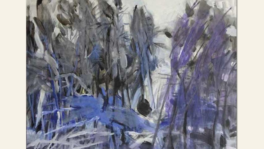 geb. 1954 in Lichtenfels lebt in Schöllkrippen Sanfte Kälte (2018) 60 x 80 cm Acryl auf Leinwand