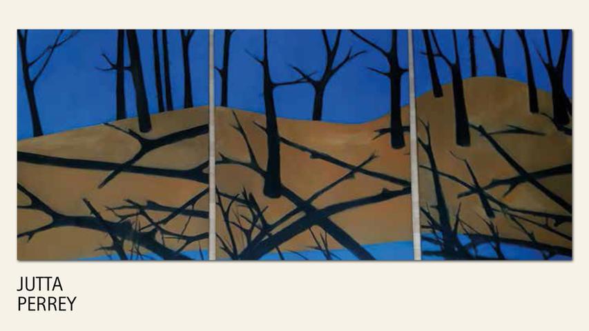 geb. 1951 in Nürnberg lebt in Nürnberg Kreuz+Quer 1-3 (2017) 100 x 240 cm; dreiteilig Acryl und Öl auf Leinwand