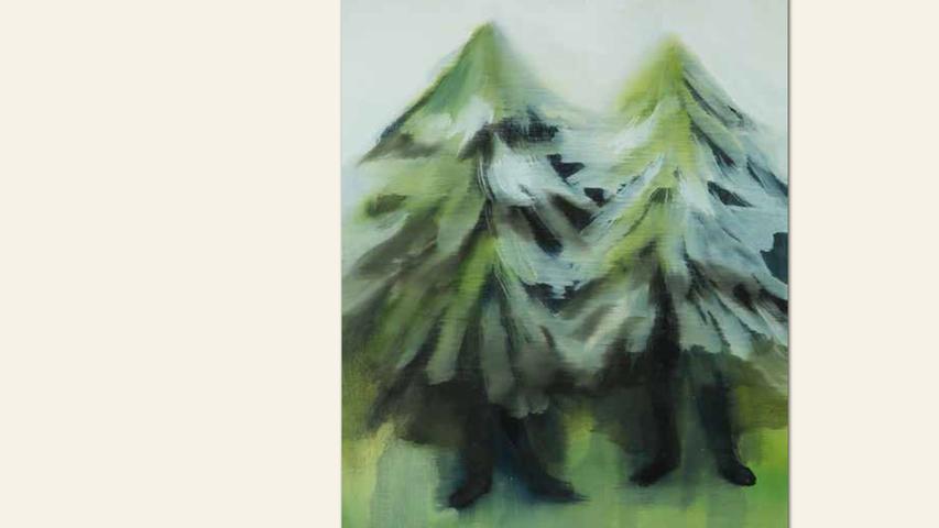 geb. 1981 in Masan/Südkorea lebt in Nürnberg Ohne Titel (2017) 50 x 34 cm Öl auf Leinwand ebenfalls gezeigt:  Ohne Titel (2018) 50 x 45 cm Öl auf Leinwand