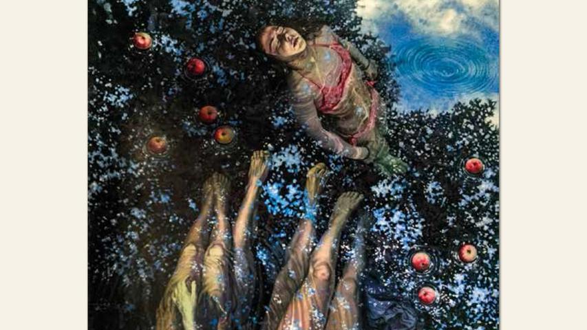 geb. 1972 in Karaganda/Kasachstan lebt in Fürth Ohne Titel (2017) 140 x 60 cm Öl auf Leinwand