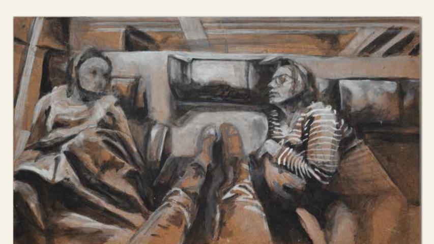 geb. 1992 in Isny lebt in Nürnberg FemaleFutureFachgespräch (2018) 18 x 32 cm Acryl auf Holz