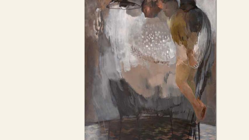 geb. 1983 in Nürnberg lebt in Nürnberg Genugtuung (2018) 210 x 160 cm Öl auf Leinwand