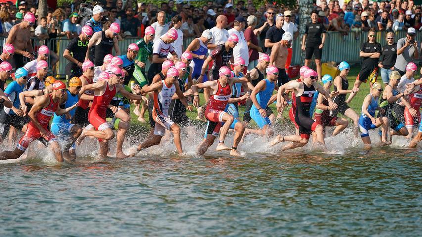 Schwitzen, schwimmen, jubeln: Die Bilder vom Rothsee-Triathlon-Sonntag!