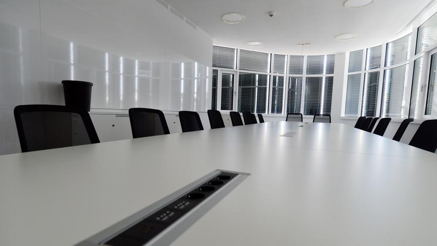 Das neue Landratsamt ist bezugsfertig. Katastrophenschutzzimmer. Foto: Klaus-Dieter Schreiter.