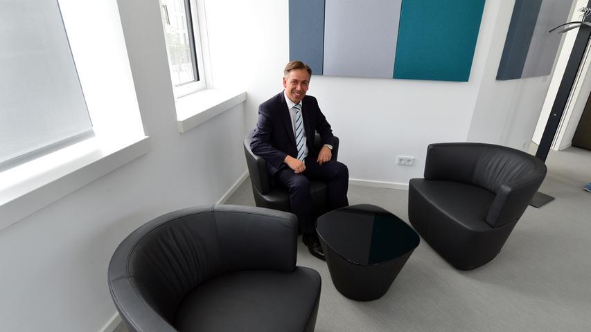 Das neue Landratsamt ist bezugsfertig.Das Büro des Landrats. Foto: Klaus-Dieter Schreiter.