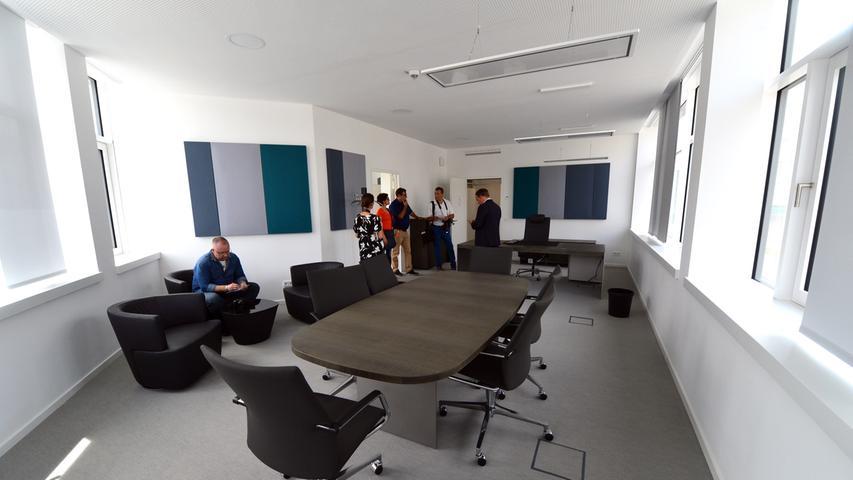 Das neue Landratsamt ist bezugsfertig. Das Büro des Landrats. Foto: Klaus-Dieter Schreiter.