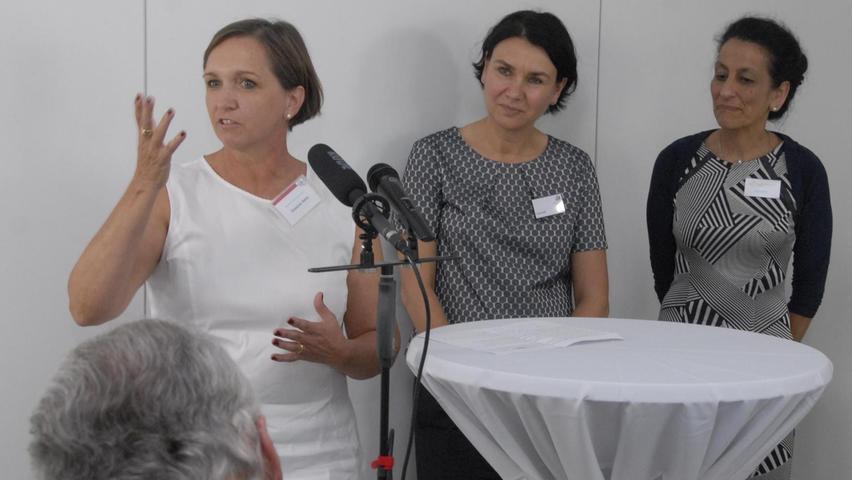 Gelungene Aktion von (v. l.) Susanne Hehn, Karin Reif und Anjeli Batra: Der Brunch brachte ihre Anliegen auf die Tagesordnung.