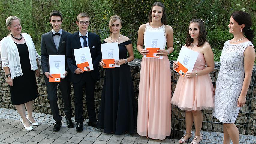 Die besten Schüler der Realschule Ebermannstadt
