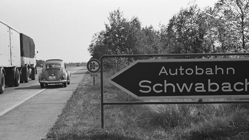 Schnellstraße statt Wald: Wie die A6 in den 70ern nach Schwabach kam