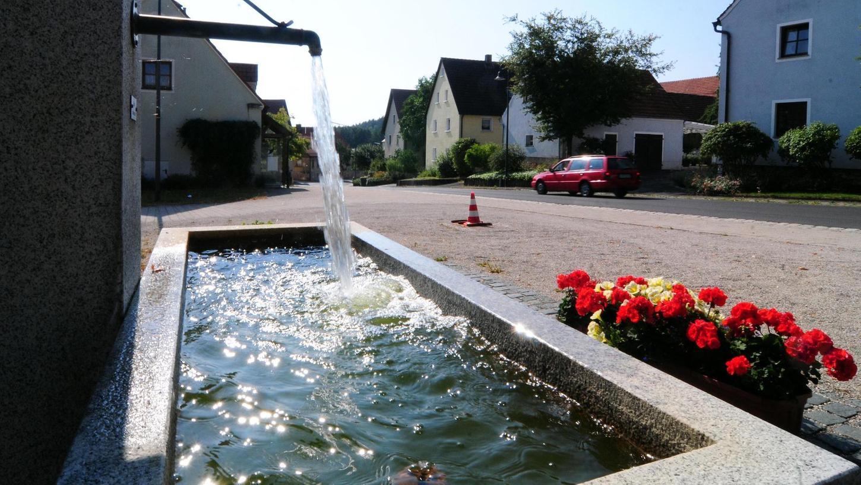 Noch fließt das Wasser in Leups. Doch nach Messungen der Juragruppe an der Quelle, die das Dorf mit Wasser versorgt, droht die Schüttung derzeit langsam zu versiegen. Der Verein Pro Leupser Quellwasser bezweifelt dies.