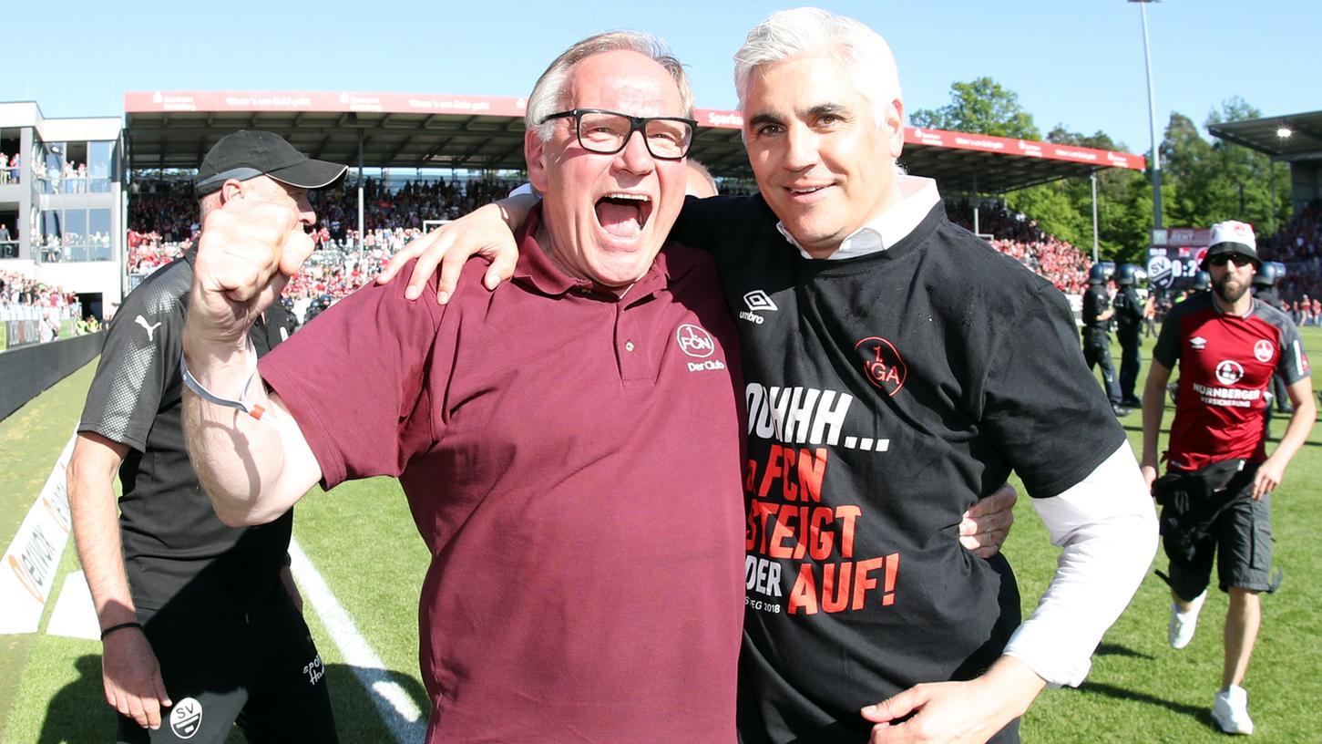 Vom Aufstieg zehren sie noch immer beim 1. FC Nürnberg