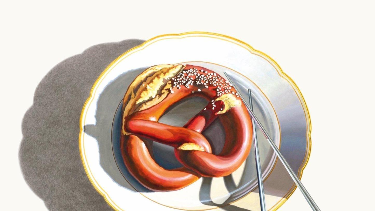 Heute im Angebot: Breze, mit Essstäbchen zu essen!