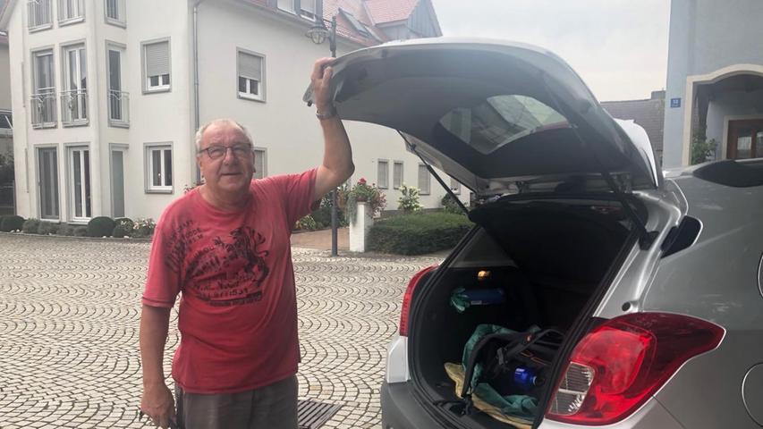 Was für ein Empfang in Ipsheim: Wilfried Zeller erkennt mich und bringt mich spontan zum 2. Bürgermeister. Danke für die freundliche Begrüßung!