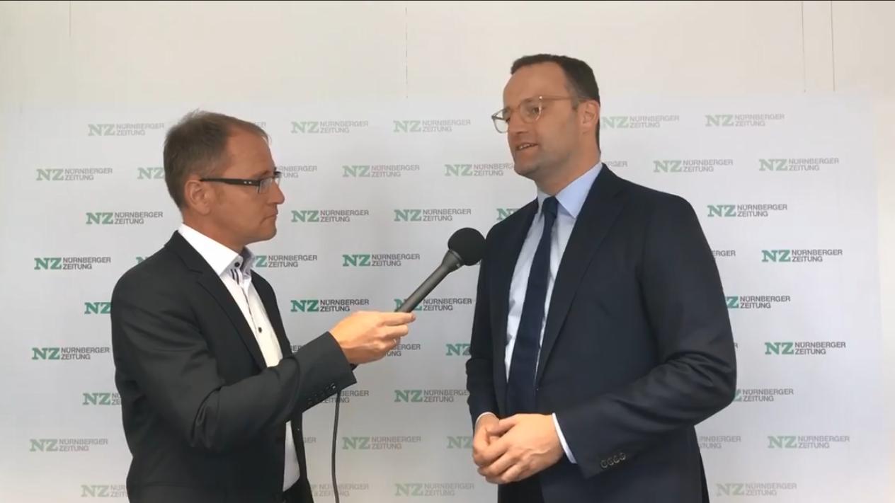 Bundesgesundheitsminister Jens Spahn im Interview mit NZ-Chefredakteur Stephan Sohr.