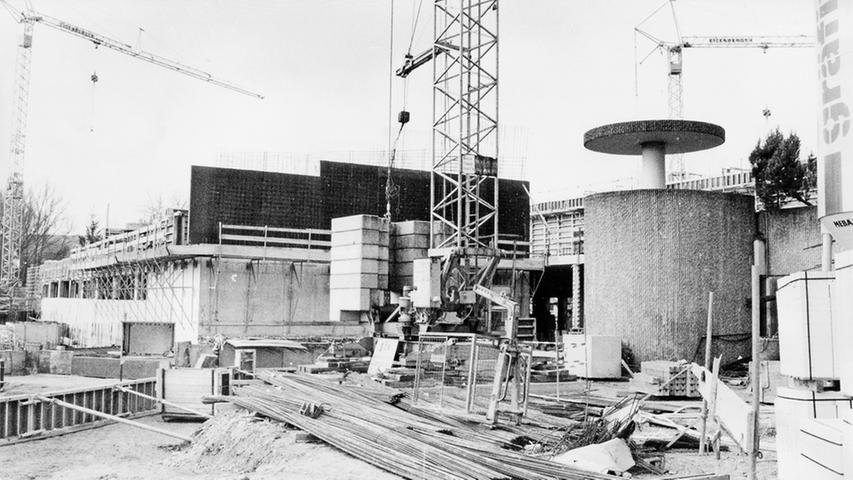 Bauarbeiten an der Treuchtlinger Therme um 1980.
